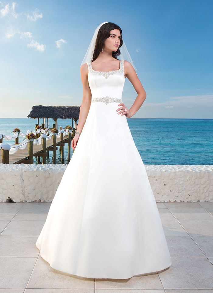 Sincerity wedding dress style 3786 sensational nassau for Wedding dress neckline styles