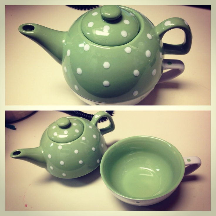My New Teapot Teacup Set! So Cute!