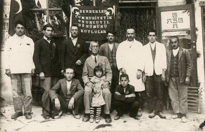 Town barbers celebrating Republic Ceremony in Beypazarı,Ankara