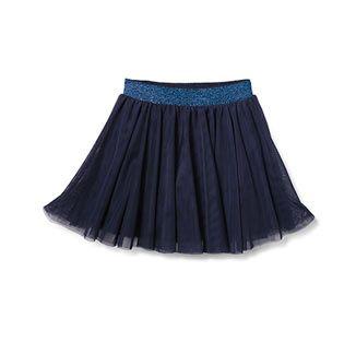 Tylová sukně, modrá