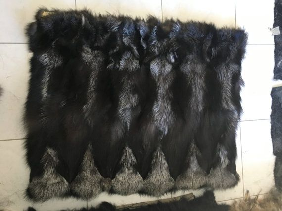 Silver fox  Sectional Fur Plate by skffurs on Etsy