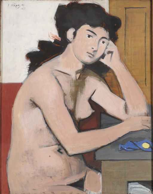 cg54kck:  Figure, 1951Yiannis Moralis (Greek 1916-2009)