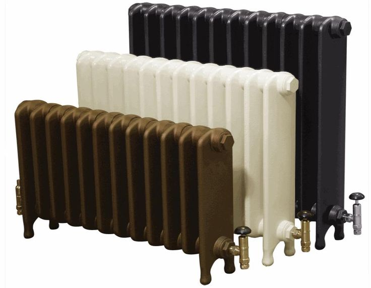 long fat radiator in bronze