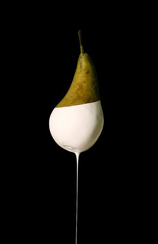 Pears . Birne . poire  | Food. Art + Style. Photography: Food on black by Natasha Alipour-Faridani |
