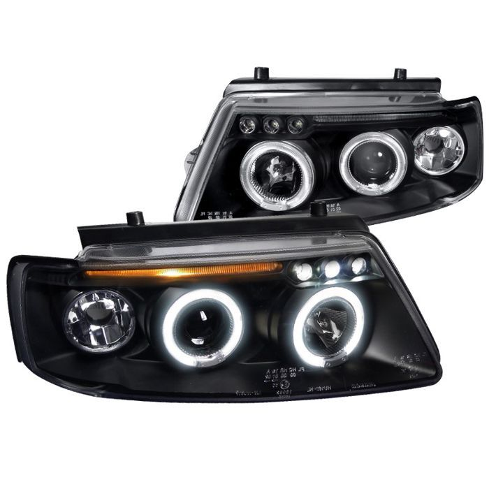 Spec D Tuning For 1997 2000 Volkswagen Passat Dual Halo Led Projector Headlights 97 98 99 00 Left Right Projector Headlights Vw Passat Led Projector