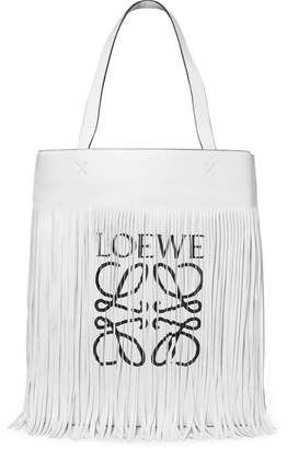 79f72c68c Shop for Loewe Fringed Printed Leather Tote at ShopStyle.com   Most ...