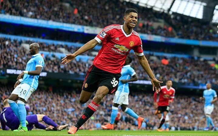 Manchester United teenager Marcus Rashford shines on his England's U21 debut