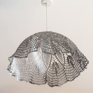 maillo, doily lamp crochet