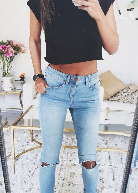 Spring Outfit - Crop & jeans