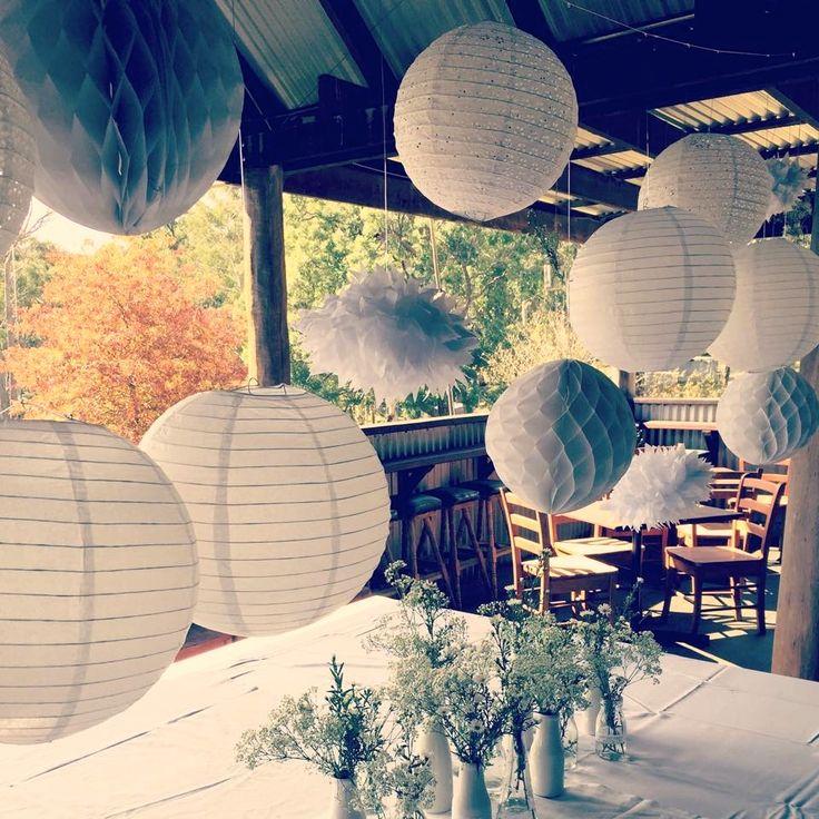 Inside the Cider Barn! #ivyandmoss #eventstyling #lanterns #events #wedding #decoration #rustic #flowers #countrywedding