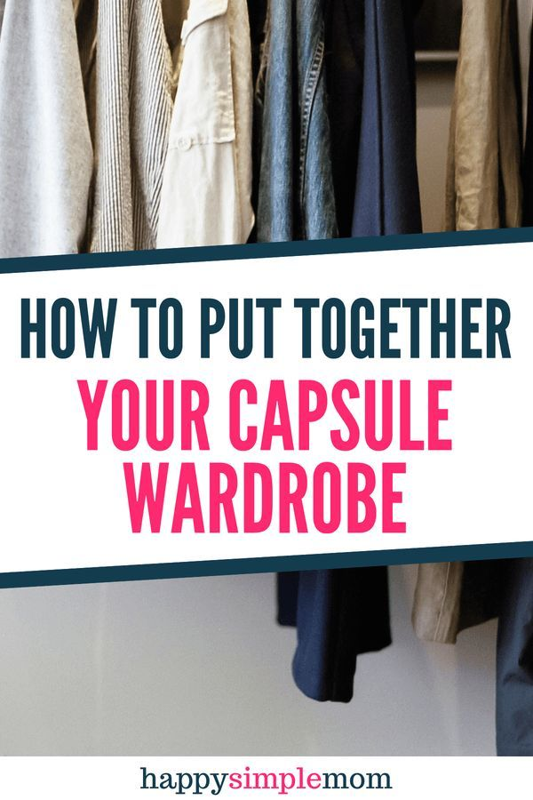 How to Put Together a Capsule Wardrobe | Declutter Home | Capsule
