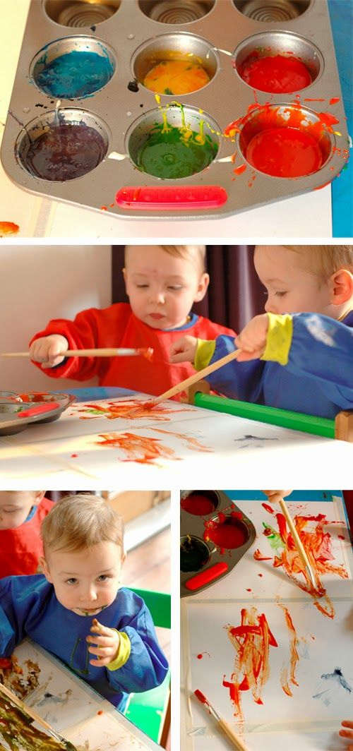 Easy Edible Paint!! #twins #paint #kidcraft