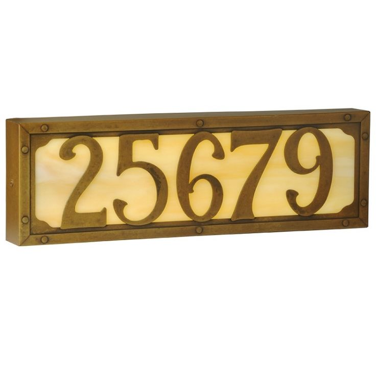 Lighted Address Sign Part - 48: Illuminated House Numbers - Willowglen, Large · Address SignsAddress ...