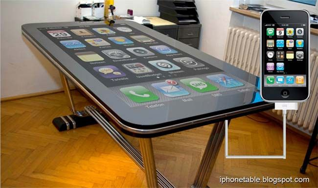 Latest Coolest gadgets – Table Connect Multitouch iPhone Desk – New high technology gadgets – Electronic gadgets