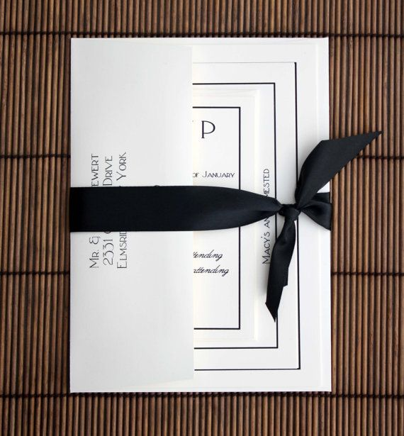 Formal Traditional Wedding Invitations - Black and Ecru Wedding Invitation Suite -PURCHASE to start the ORDERING PROCESS-