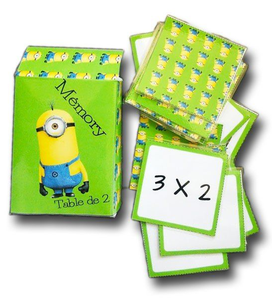 Mémory des tables de multiplication : apprendre les tables en s'amusant et en jouant avec ce mémory des tables, une façon détournée de mémoriser les calculs et leurs réponses.
