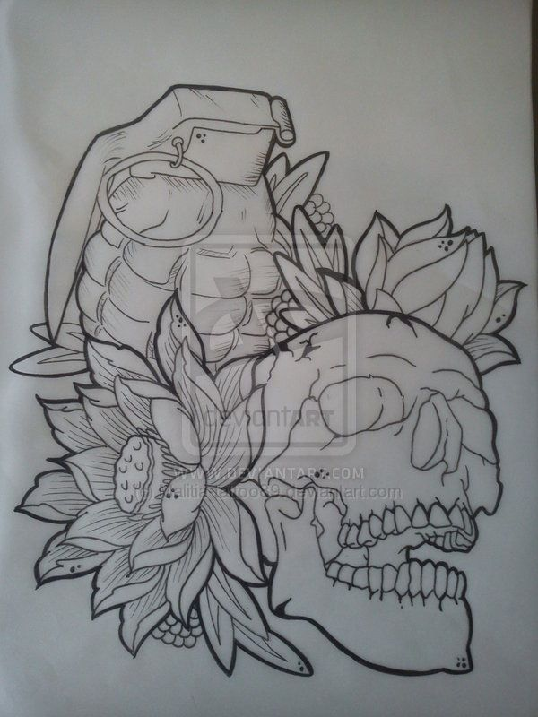 Grenade Skull tat idea                                                                                                                                                                                 More