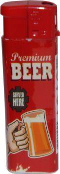 RZOnlinehandel - Atomic Elektronik Feuerzeug Nachfüllbar Retro Beer Motiv - Premium Beer