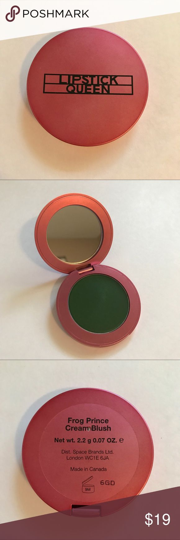 🐸 Lipstick Queen Frog Prince Cream Blush 🐸 Brand new product. NWOT. Cream Blush from the Lipstick Queen Frog Prince collection. Looks green but transforms into a beautiful pink. 🐸 Lipstick Queen Makeup Blush