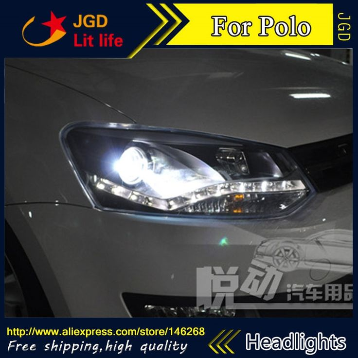 556.14$  Buy now - http://alinuv.worldwells.pw/go.php?t=32751916257 - Free shipping ! Car styling LED HID Rio LED headlights Head Lamp case for VW Polo 2011-2013 Bi-Xenon Lens low beam