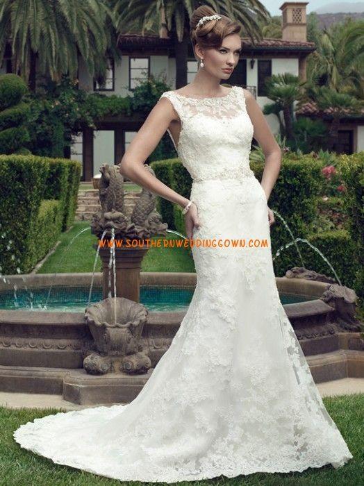 Col U profond Sans manches Décolleté dans le dos Robes de mariée 2014