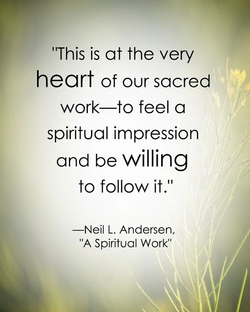 LDS Quote on the Holy Ghost by Neil L. Anderson http://sprinklesonmyicecream.blogspot.com/