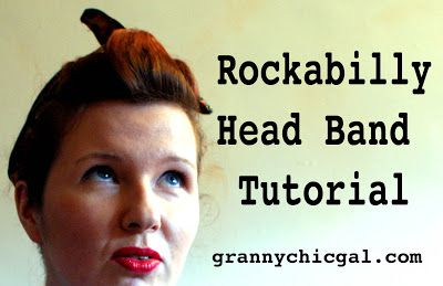 The Vintage Pattern Files: 1950's Sewing - Rockabilly Head Band Tutorial