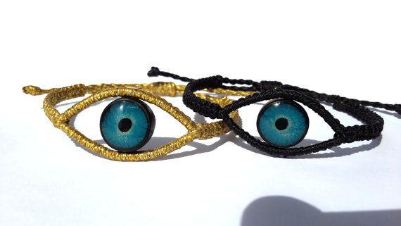 Macrame BraceletEvil Eye Bracelet by MACRANI on Etsy