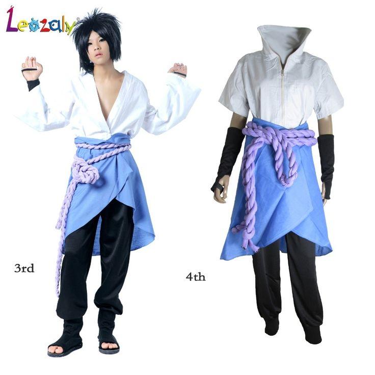 Naruto Cosplay Uchiha Sasuke Costume 3rd /4th Generation Suit Unisex Casual cosplay costume