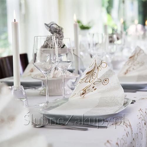 BIEŻNIK Duni Lea Biała 40cmx144m #slub #wesele #sklepslubny #slubnezakupy #dekoracje