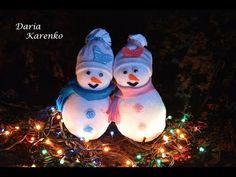 Новогодний декор 2016. Снеговик из носков - YouTube