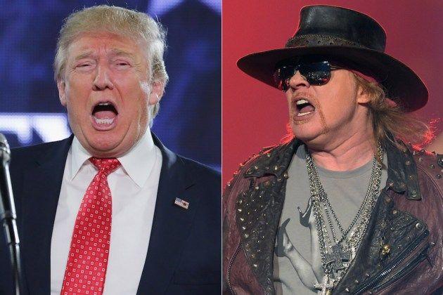 """HeadbangerVoice: Donald Trump: """"Axl Rose é o Donald Trump do rock n..."""