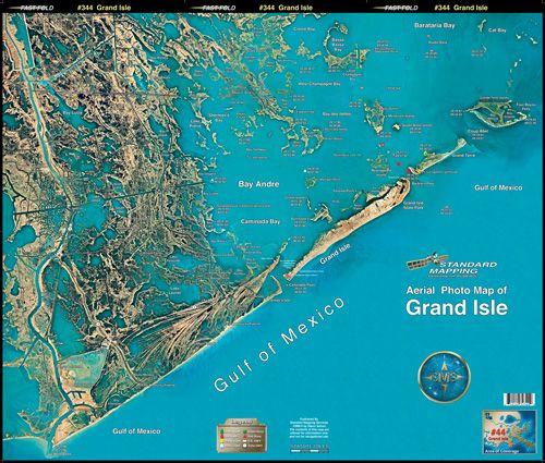 Grand Isle Louisiana Grand Isle Aerial Chart La44 Keith Map