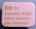 Joy!    Ha. How funny. One of the Joy Magnetism magnets was pinned and repinned, and I didn't even know it.    http://www.joymagnetism.com/2010/08/very-definition-of.html
