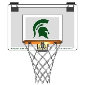 Door Mounted Mini Basketball Hoop - Mini Collegiate Hoop - Michigan State University, (indoor basketball hoop, msu, spartans)