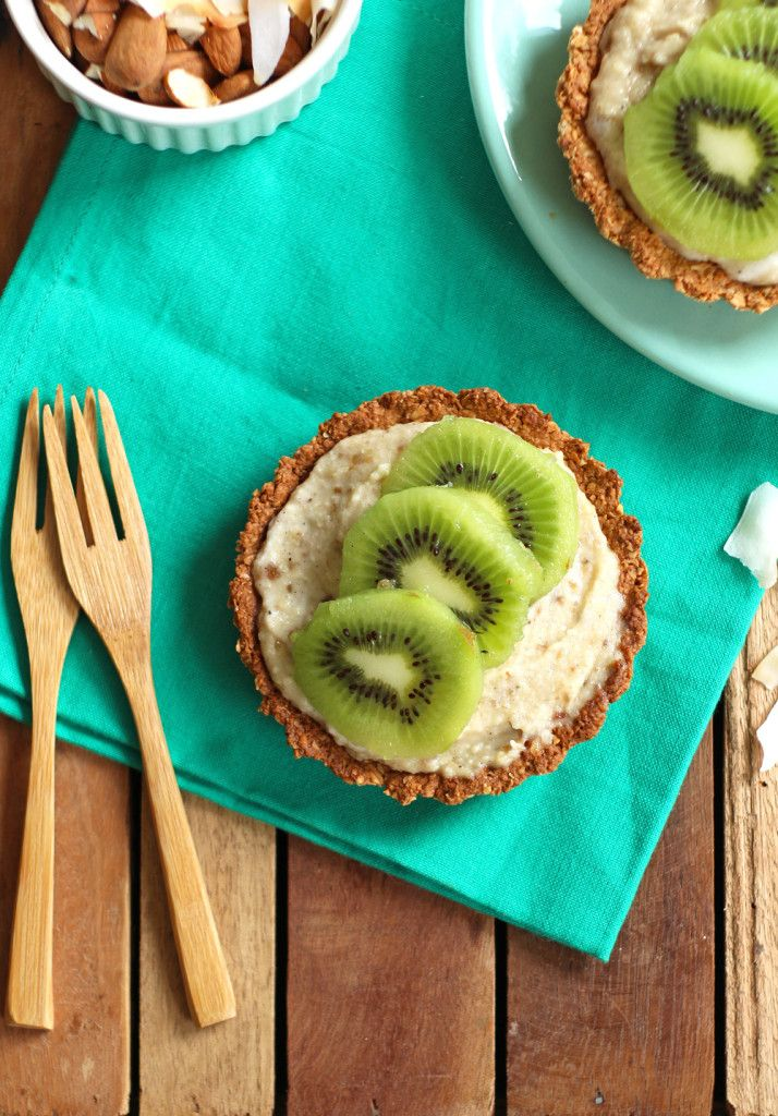 kiwitaartje, vegan, gebruik ook glutenvrije  producten