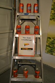 Nerf party games. Can create a theme by just printing out an image and putting it on the can.