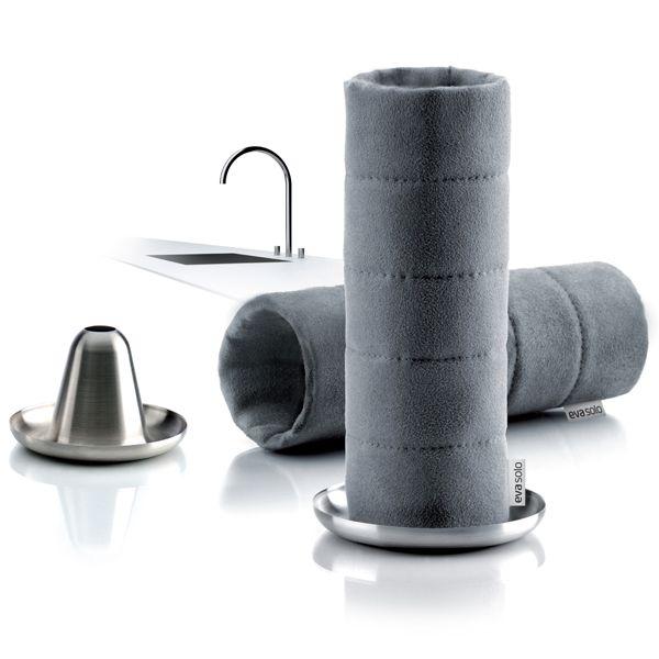 Dishcloth, grey. Mikrokuitua; kestävä ja pestävä.