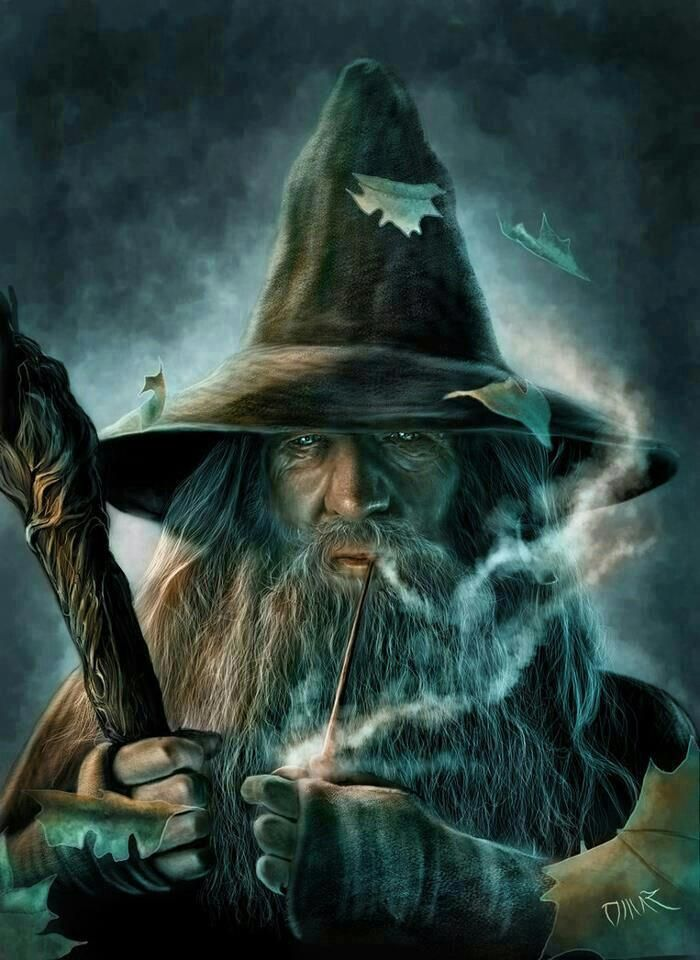 Looks like Elminster from the forgotten realms. Or some other old wizard with a pipe and staff