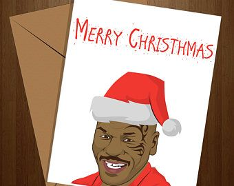 mike tyson merry chrithmith funny christmas card xmas card mike tyson boxing