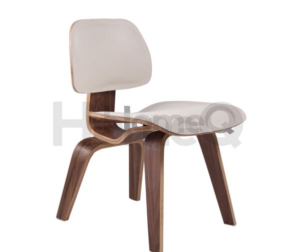 Replica Leather Eames Moulded Plywood Chair - Dining Chair Wood (DCW)  Platinum Series -