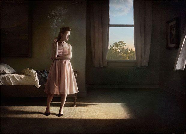 Richard Tuschman photographe de métier et créateur devant l'infini à eu l'idée un peu folle de donner vie au travail de l'artiste peintre Edward Hopper.