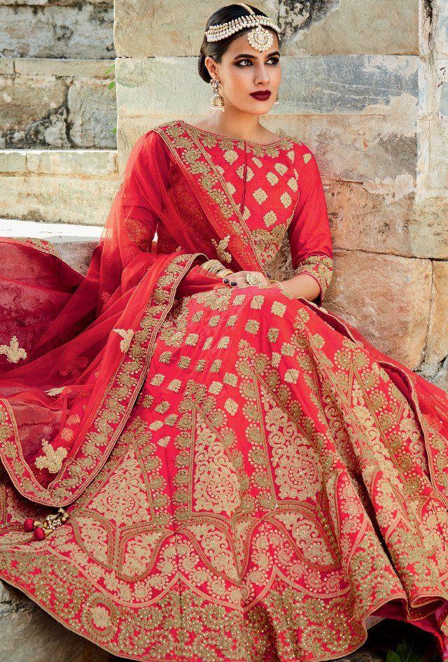 Red Designer Lehengha