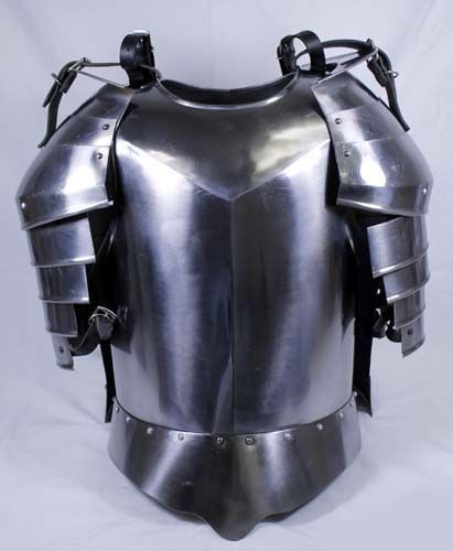 鋼 中世 鎧セット - ブレストプレート - 騎士の衣裳 - インテリア・舞台美術・小道具・衣装・装飾・騎士道・中世ヨーロッパ・コスチュームのフリーポート