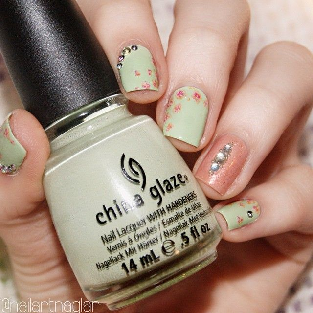 """Re-fresh Mint""  @chinaglazeofficial  nail art"