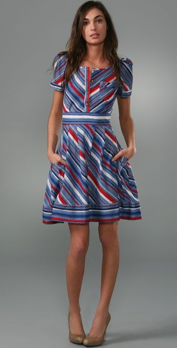 Marc by Marc Jacobs Flutter Stripe Dress: Summer Dresses, Flutter Stripes, Romantic Wedding, Cute Dresses, Red White Blue, Beautiful Dresses, 4Th Of July, Blue Stripes Dresses, Dresses Shape