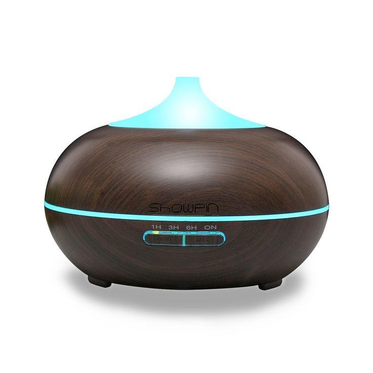 37$: Aromathérapie humidificateur 300ml Huile Essentielle Diffuseur brume ultrasonique showpin Cool whisper-quite Humidificateur avec minuteur 4ensembles 7Changement de couleur LED sans arrêt automatique: Amazon.ca: Maison et Cuisine