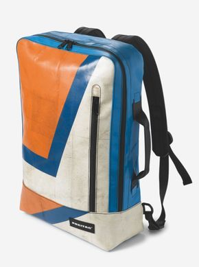 Freitag Hazzard F48 backpack in blue and orange