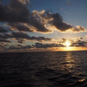 Beautiful sunset during WEPA expedition
