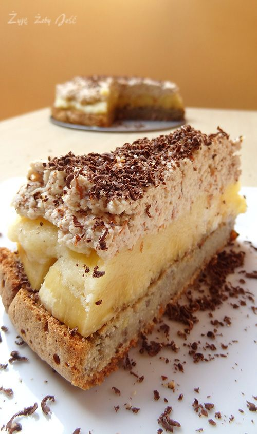 tort bananowo - migdalowy www